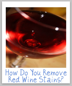 remove red wine stain