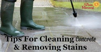 Tips for cleaning concrete and removing stains