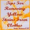 removing yellow stains from clothing