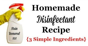 Homemade disinfectant recipe, with 3 simple ingredients