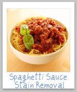 spaghetti sauce stains