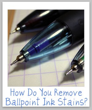 stain removal ballpoint ink