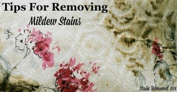 Tips for removing mildew stains