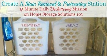 Create a stain removal and pretreating station {a Declutter 365 mission on Home Storage Solutions 101}
