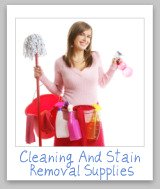 cleaning and stain removal supplies