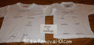 Stain RX results after 3 washings