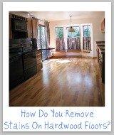 stains on hardwood floors
