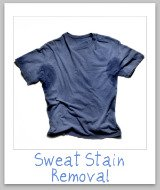 removing sweat stain
