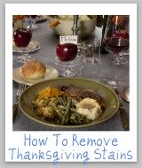removing Thanksgiving stains