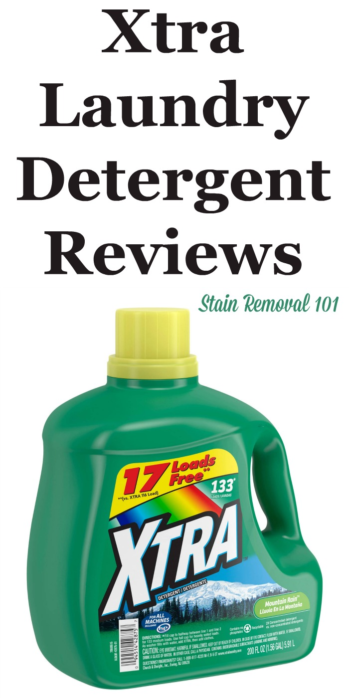 Here is a comprehensive guide about Xtra laundry detergent, including reviews and ratings of this brand of laundry supply, including different scents and varieties {on Stain Removal 101}