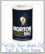 uses of salt around your home