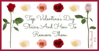 Valentine's Day stains