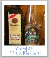 vinegar stains