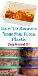 How To Remove Tomato Stains From Plastic
