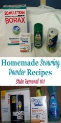 Homemade Scouring Powder Recipes