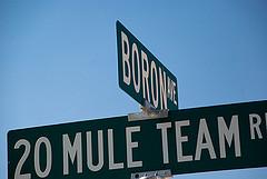 20 mule team road sign