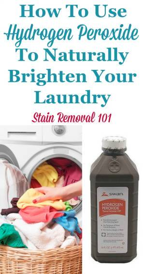 Uses Of Hydrogen Peroxide For Laundry