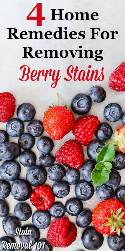 4 home remedies for removing berry stains from clothes {on Stain Removal 101}