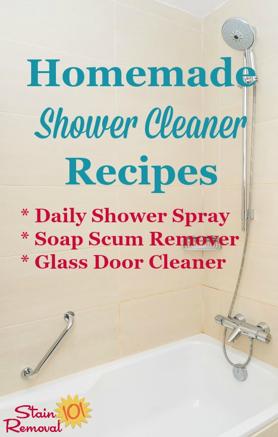 Homemade Shower Cleaner Recipes For Everyday Use And For Heavy Duty Use  When Youu0027ve ...