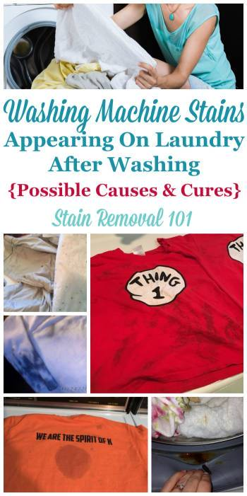 Washing Machine Stains: Possible Causes And Cures