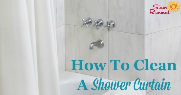 Instructions For How To Clean A Shower Curtain Its Frugal Simple And Fast