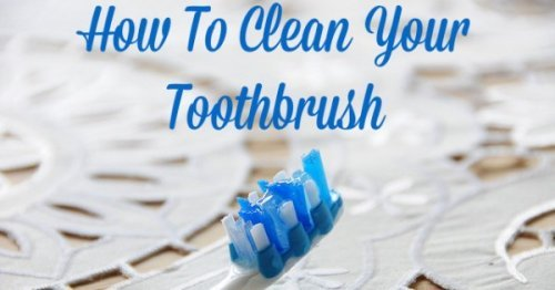 How to clean your toothbrush to keep it clean between regular replacements, with discussion of three main methods {on Stain Removal 101}