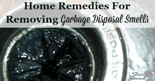 Several natural home remedies for getting rid of garbage disposal smells {on Stain Removal 101} #OdorRemoval #CleaningTips #KitchenCleaning