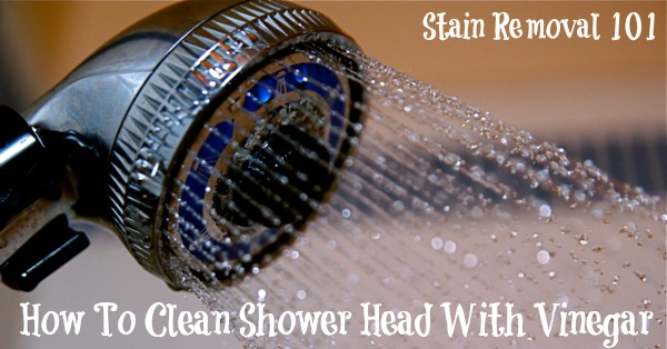 How to clean shower head of hard water deposits with vinegar {on Stain Removal 101}