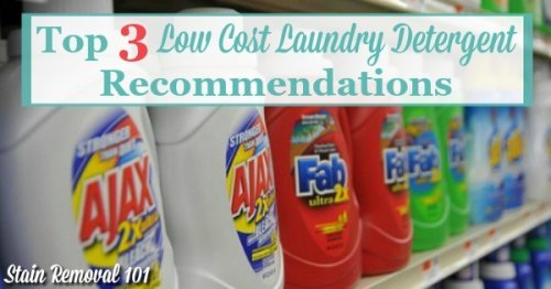 Top 3 low cost laundry detergent recommendations, plus more ways to save money on laundry {on Stain Removal 101}