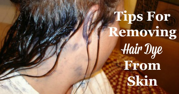 Tips for both preventing and then removing hair dye from skin, including product recommendations and DIY homemade removers {on Stain Removal 101}