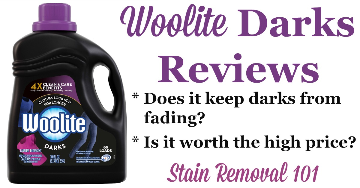 Woolite for Darks reviews, including discussions of whether the high price is worth it, whether it actually works well to prevent fading of dark clothes, allergic reactions and more {on Stain Removal 101}