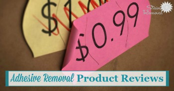 Adhesive removal product reviews {on Stain Removal 101}