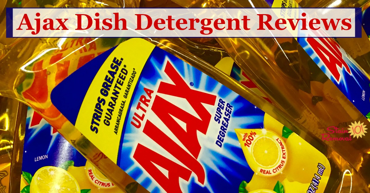 Ajax dish detergent reviews: Does this low cost brand work well enough? {on Stain Removal 101}