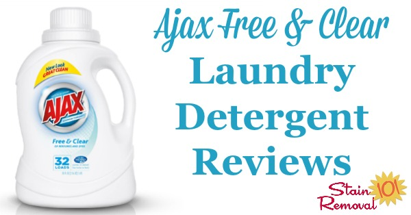 Ajax free and clear laundry detergent reviews, from real readers, about this low cost detergent {on Stain Removal 101}