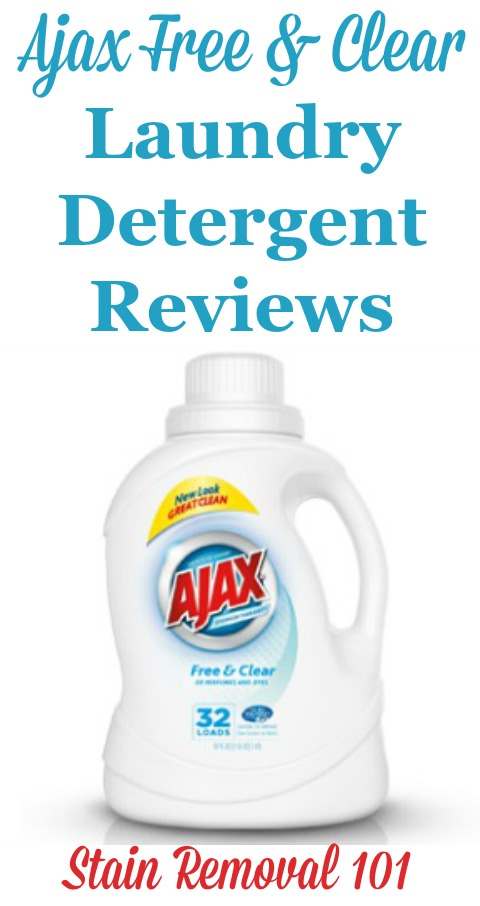 Ajax free and clear laundry detergent reviews, from real readers, about this low cost detergent {on Stain Removal 101} #AjaxDetergent #AjaxLaundryDetergent #FreeAndClearLaundryDetergent