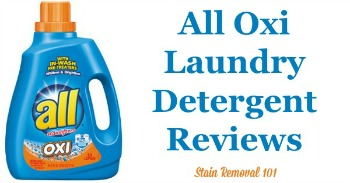 All Oxi laundry detergent reviews