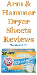Arm And Hammer Dryer Sheets