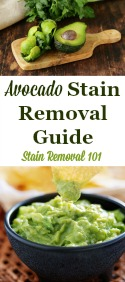 Avocado Stain Removal Guide