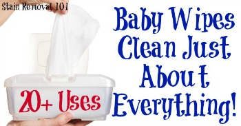 20+ uses for baby wipes for cleaning