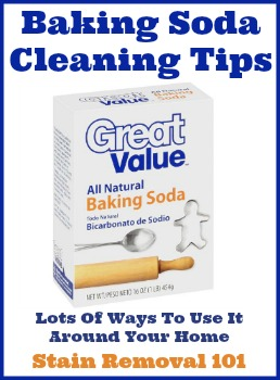 baking soda cleaning tips for all around your home