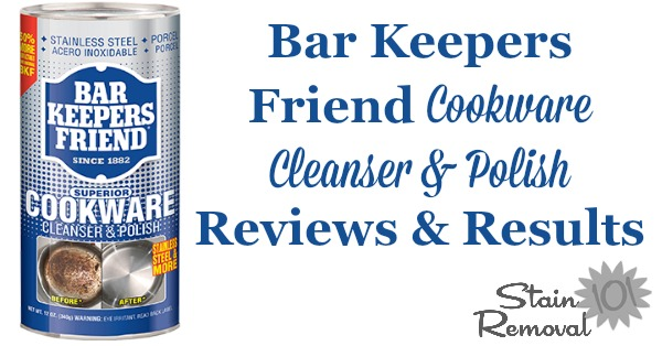 Barkeepers Friend Cookware Cleaners & Polish reviews {on Stain Removal 101} #BKF #BarKeepersFriend #CookwareCleaner