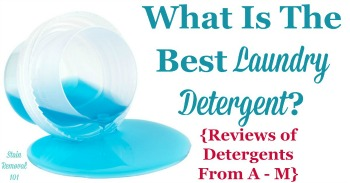 What is the best laundry detergent? Reviews from A - M