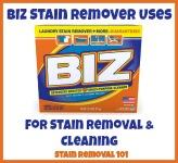 BIZ stain remover uses
