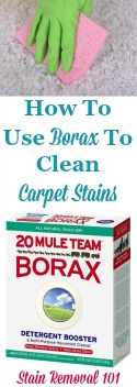 Use Borax To Clean Carpet
