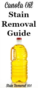 Canola Oil Stain Removal Guide