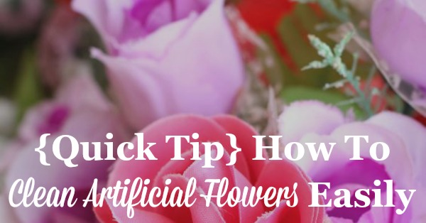 Clean artificial flowers with salt quick tip for how to clean artificial flowers easily and naturally on stain removal 101 mightylinksfo