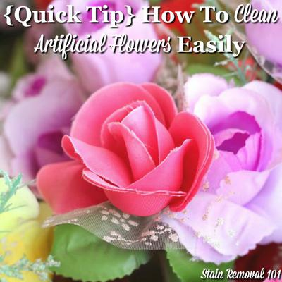 Clean artificial flowers with salt mightylinksfo