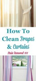 Clean Drapes & Curtains