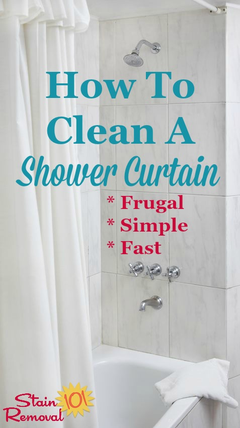 How To Clean A Shower Curtain When It Gets Dirty Or Moldy So That Looks