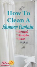 How To Clean Shower Curtain